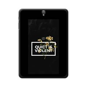 デザイン・アルファベット:quiet is violent Samsung Galaxy Tab S3 9.7 ポリカーボネート ハードケース