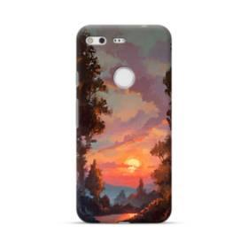 野原の夕暮れ景色 Google Pixel ポリカーボネート ハードケース
