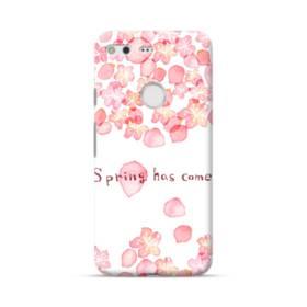 桜&デザイン英文 Google Pixel ポリカーボネート ハードケース