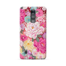 和の花柄:牡丹 LG Stylus/Stylo 2 /Plus ポリカーボネート ハードケース