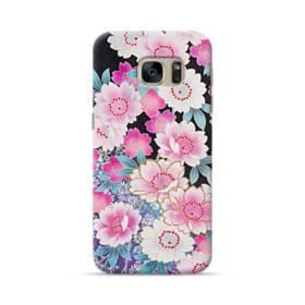 和の花柄 Samsung Galaxy S7 ポリカーボネート ハードケース