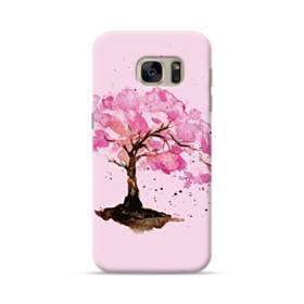 水彩画・桜の木 Samsung Galaxy S7 ポリカーボネート ハードケース