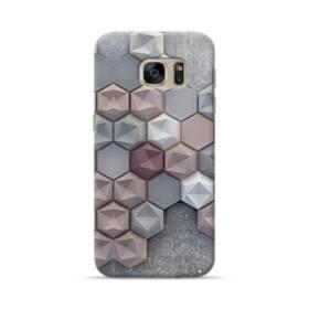 つぶつぶ六角形 Samsung Galaxy S7 ポリカーボネート ハードケース