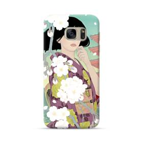 ザ・桜&ジャパンガール! Samsung Galaxy S7 ポリカーボネート ハードケース