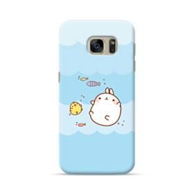 ぽっちゃりウサギ&ヒヨコ Samsung Galaxy S7 ポリカーボネート ハードケース