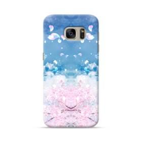 桜の花びら Samsung Galaxy S7 ポリカーボネート ハードケース