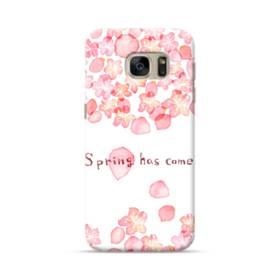 桜&デザイン英文 Samsung Galaxy S7 ポリカーボネート ハードケース