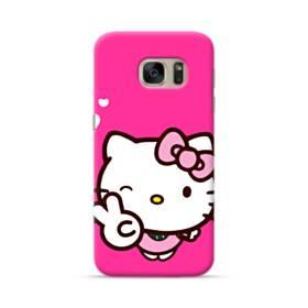 永遠に可愛い!キティちゃん Samsung Galaxy S7 ポリカーボネート ハードケース