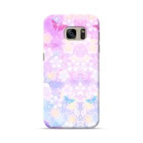 爛漫・抽象的な桜の花 Samsung Galaxy S7 ポリカーボネート ハードケース