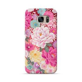和の花柄:牡丹 Samsung Galaxy S7 ポリカーボネート ハードケース