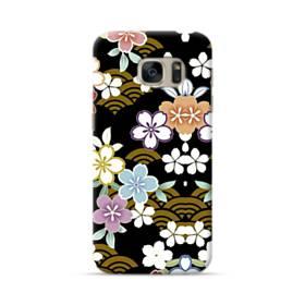 和風・桜&浪 Samsung Galaxy S7 ポリカーボネート ハードケース