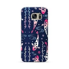 和柄:桜&錦鯉 Samsung Galaxy S7 ポリカーボネート ハードケース