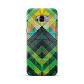抽象的なモザイクパターン Samsung Galaxy S8 Plus ポリカーボネート ハードケース