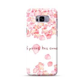 桜&デザイン英文 Samsung Galaxy S8 Plus ポリカーボネート ハードケース