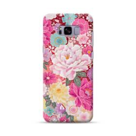 和の花柄:牡丹 Samsung Galaxy S8 Plus ポリカーボネート ハードケース