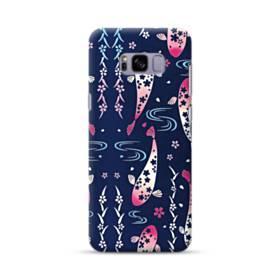 和柄:桜&錦鯉 Samsung Galaxy S8 Plus ポリカーボネート ハードケース