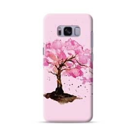 水彩画・桜の木 Samsung Galaxy S8 ポリカーボネート ハードケース