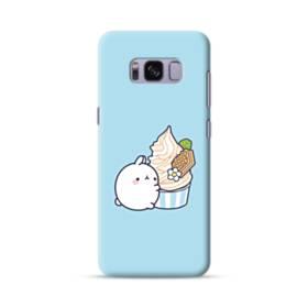 ぽっちゃりウサギ Samsung Galaxy S8 ポリカーボネート ハードケース