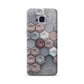 つぶつぶ六角形 Samsung Galaxy S8 ポリカーボネート ハードケース