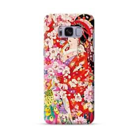和・花魁&桜 Samsung Galaxy S8 ポリカーボネート ハードケース