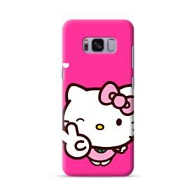 永遠に可愛い!キティちゃん Samsung Galaxy S8 ポリカーボネート ハードケース