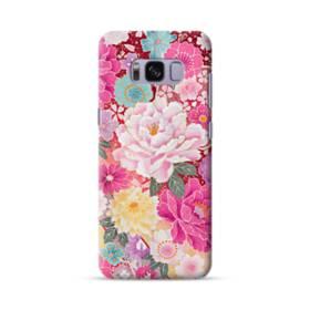 和の花柄:牡丹 Samsung Galaxy S8 ポリカーボネート ハードケース