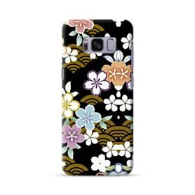 和風・桜&浪 Samsung Galaxy S8 ポリカーボネート ハードケース