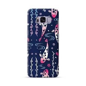 和柄:桜&錦鯉 Samsung Galaxy S8 ポリカーボネート ハードケース