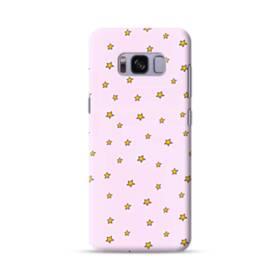ピンク&キュートな星柄 Samsung Galaxy S8 ポリカーボネート ハードケース