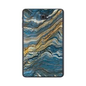 マーブル模様・白&藍 Samsung Galaxy Tab A 10.1 ポリカーボネート ハードケース
