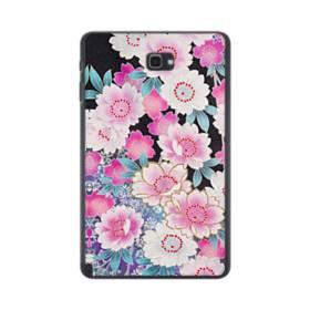 和の花柄 Samsung Galaxy Tab A 10.1 S-Pen Version ポリカーボネート ハードケース