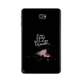 ブラック&デザイン アルファベット Samsung Galaxy Tab A 10.1 S-Pen Version ポリカーボネート ハードケース