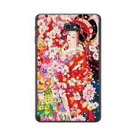 和・花魁&桜 Samsung Galaxy Tab A 10.1 S-Pen Version ポリカーボネート ハードケース