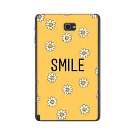 キュートな花のモチーフ&デザイン アルファベット スマイル Samsung Galaxy Tab A 10.1 S-Pen Version ポリカーボネート ハードケース