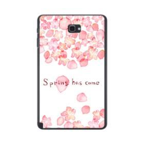 桜&デザイン英文 Samsung Galaxy Tab A 10.1 S-Pen Version ポリカーボネート ハードケース