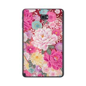 和の花柄:牡丹 Samsung Galaxy Tab A 10.1 S-Pen Version ポリカーボネート ハードケース