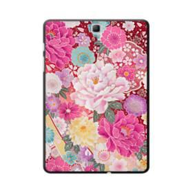 和の花柄:牡丹 Samsung Galaxy Tab A 9.7 ポリカーボネート ハードケース