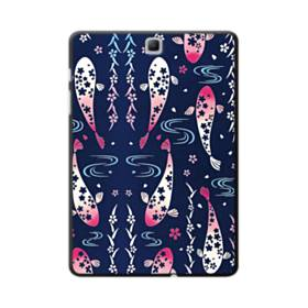 和柄:桜&錦鯉 Samsung Galaxy Tab A 9.7 ポリカーボネート ハードケース