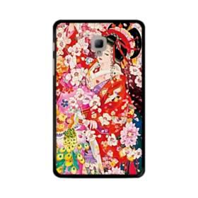 和・花魁&桜 Samsung Galaxy Tab A 8.0 (2017) ポリカーボネート ハードケース