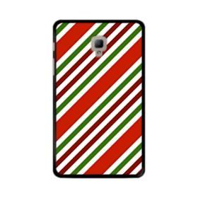 メリー クリスマス ストライプ パターン Samsung Galaxy Tab A 8.0 (2017) ポリカーボネート ハードケース