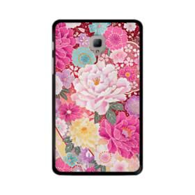 和の花柄:牡丹 Samsung Galaxy Tab A 8.0 (2017) ポリカーボネート ハードケース