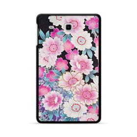 和の花柄 Samsung Galaxy Tab E 8.0 ポリカーボネート ハードケース