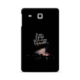 ブラック&デザイン アルファベット Samsung Galaxy Tab E 8.0 ポリカーボネート ハードケース