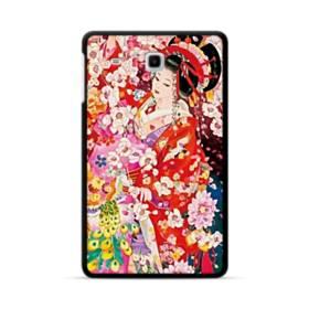 和・花魁&桜 Samsung Galaxy Tab E 8.0 ポリカーボネート ハードケース