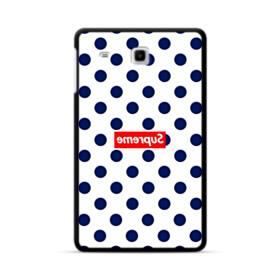 紺のドット&真っ逆になったスーパー ミ(super me) Samsung Galaxy Tab E 8.0 ポリカーボネート ハードケース