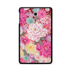和の花柄:牡丹 Samsung Galaxy Tab E 8.0 ポリカーボネート ハードケース