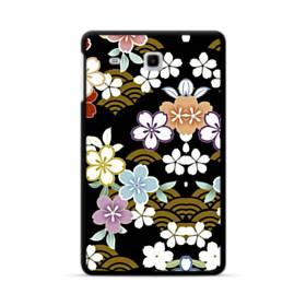 和風・桜&浪 Samsung Galaxy Tab E 8.0 ポリカーボネート ハードケース