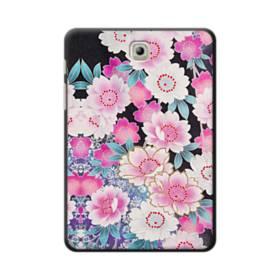 和の花柄 Samsung Galaxy Tab S2 8.0 ポリカーボネート ハードケース