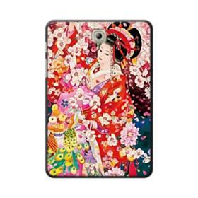 和・花魁&桜 Samsung Galaxy Tab S2 8.0 ポリカーボネート ハードケース