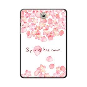 桜&デザイン英文 Samsung Galaxy Tab S2 8.0 ポリカーボネート ハードケース